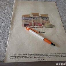 Catálogos publicitários: BATIDOS CREMAS Y BARRITAS BIOMANAN ANUNCIO PUBLICIDAD REVISTA 1989. Lote 207094932