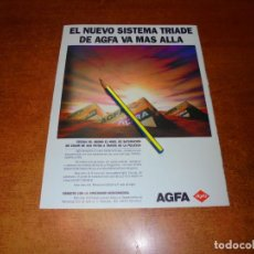 Catálogos publicitarios: PUBLICIDAD 1991: AGFA SISTEMA TRIADE. Lote 207101042