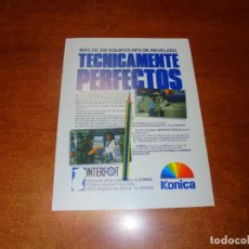 Catálogos publicitarios: PUBLICIDAD 1991: EQUIPOS NPS DE REVELADO KONICA.. Lote 207101516
