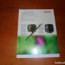 Catálogos publicitarios: PUBLICIDAD 1991: SIGMA OBJETIVOS MACRO. Lote 207101897