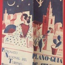 Catálogos publicitarios: PLANO-GUIA DE SEVILA PATRONATO NACIONAL DEL TURISMO. OFICINA DE INFORMACION EN EL AYUNTAMIENTO. Lote 207111956