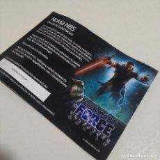 Catálogos publicitarios: PAPEL HOJA PUBLICITARIO PUBLICIDAD NOKIA N85 N 85 STAR WARS GUERRA GALAXIAS 2008 UNLEASHED MOBILE. Lote 207137592