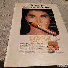 Catálogos publicitarios: CREMA ANTIEDAD LIPOSOMIAL LOTALIA ANUNCIO PUBLICIDAD REVISTA 1989. Lote 207140180