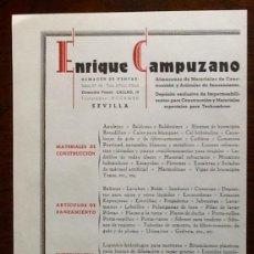 Catálogos publicitarios: PUBLICIDAD ENRIQUE CAMPUZANO. SEVILLA. ENVIO INCLUIDO.. Lote 207301356