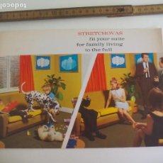 Catálogos publicitarios: STRETCHOVA INSTANT STRETCH COVERS. LEICESTERSHIRE. REINO UNIDO. FOLLETO, DE FUNDAS DE SOFÁS. 1968. Lote 207339307