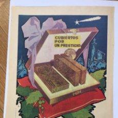 Catálogos publicitarios: 2 HOJAS PUBLICIDAD ANUNCIO TURRONES: EL ALMENDRO, MONTSERRAT Y ANTIU-XIXONA (1958) ¡ORIGINALES!. Lote 207447218