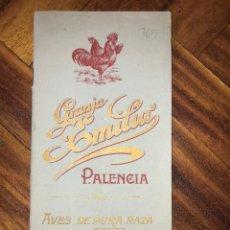 Catálogos publicitarios: CATÁLOGO GRANJA EMILIA EN PALENCIA CON LAS RAZAS DE GALLINAS Y CERDOS QUE VENDÍAN.. Lote 207821921