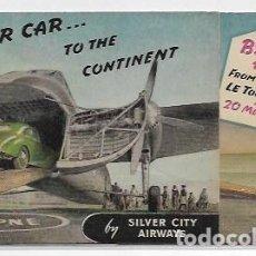 Catálogos publicitarios: SILVER CITY AIRWAYS - DÍPTICO CON MOVIMIENTO - AUTOMÓVIL - 14,2 X 8,2 CM. - P30850. Lote 208401941
