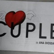 Catálogos publicitarios: FOLLETO TEATRO CUPLE - ANA DIOSDADO - INMA DE SANTIS - ETC. -TEATRO REINA VICTORIA MADRID. Lote 208433183