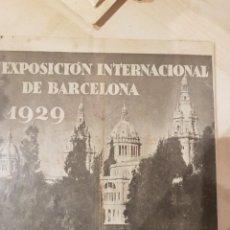 Catálogos publicitarios: CATALOGO PUBLICITARIO FERIA BARCELONA 1929 PIEZA MUY MUY RARA. Lote 209053451