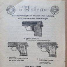 Catálogos publicitarios: ASTRA. MODELO 200. AÑOS 40-50. EN ALEMAN.. Lote 210551215