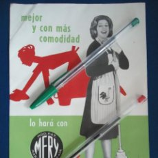Catálogos publicitarios: PUBLICIDAD FREGONA MERY TARRASA BARCELONA FREGASUELO MARY SANTPERE ACTRIZ ESPAÑOLA FREGAR CASA HOGAR. Lote 210551423