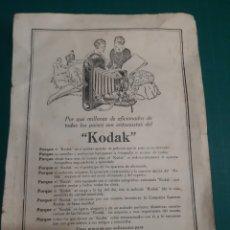 Catálogos publicitarios: LA HORRA MADRID MODA SOMBRAS MADRID KODAK IMPRESOS EPOCA PUBLICIDAD. Lote 210552211