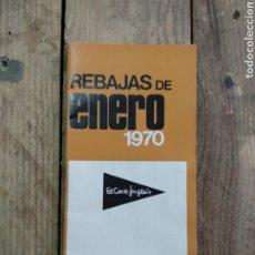 Catálogos publicitarios: AGENDA DE COMPRAS EL CORTE INGLÉS REBAJAS DE ENERO 1970. Lote 210554567