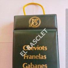 Catálogos publicitarios: ANTIGÜO MUESTRARIO CHEVIOTS FRANELAS Y GABANES - SUCESORA DE JOSE Mª ELPÓN - BARCELONA. Lote 210725300
