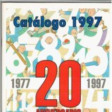 Catálogos publicitarios: * CATÁLOGO NORMA EDITORIAL 1997 * 20 ANIVERSARIO 1977/1997 * GRAPA 64 PÁGINAS A COLOR RÚSTICA *. Lote 210969142