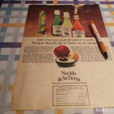 Catálogos publicitarios: CHAMPÚ NACIDO DE LA TIERRA ANUNCIO PUBLICIDAD REVISTA 1976. Lote 210970267