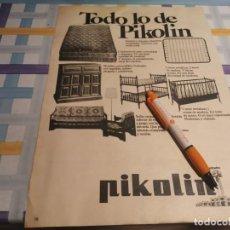 Catálogos publicitarios: SOMIERES COLCHONES Y MUEBLES PIKOLIN ANUNCIO PUBLICIDAD REVISTA 1976. Lote 210971054