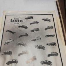 Catálogos publicitarios: PUBLICIDAD AUTOMOBILES UNIC. Lote 210977472