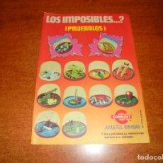 Catálogos publicitarios: PUBLICIDAD 1976: JUGUETES NOVEDAD, CONGOST. LOS IMPOSIBLES?. Lote 210981369