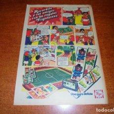 Catálogos publicitarios: PUBLICIDAD 1976: HELADOS FRIGO. SUPER ESPÍA, TRÍO Y FAMOSO.. Lote 210981436