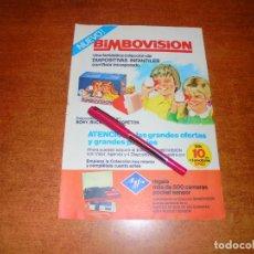Catálogos publicitarios: PUBLICIDAD 1976: BIMBOVISIÓN, COLECCIÓN DE DIAPOSITIVAS INFANTILES, BIMBO.. Lote 210981805