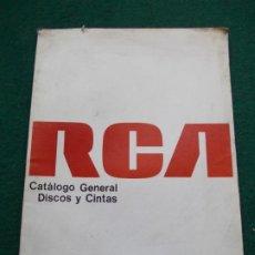 Catálogos publicitarios: CATALOGO GENERAL RCA DISCOS Y CINTAS 1978. Lote 211259091
