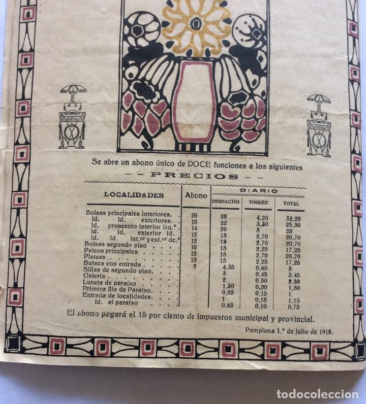 Catálogos publicitarios: TEATRO GAYARRE DE PAMPLONA ,PROGRAMA DE FUNCIONES -- 7//7/ 1918 - Foto 2 - 212018505
