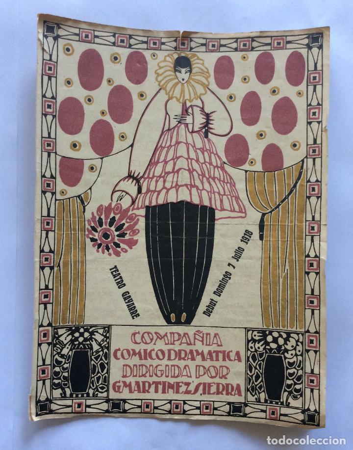 TEATRO GAYARRE DE PAMPLONA ,PROGRAMA DE FUNCIONES -- 7//7/ 1918 (Coleccionismo - Catálogos Publicitarios)