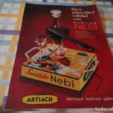 Catálogos publicitarios: SURTIDO GALLETAS NEBÍ ARTIACH REVERSO BRANDY VETERANO OSBORNE ANUNCIO PUBLICIDAD REVISTA 1969. Lote 213177652