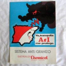 Catálogos publicitarios: FOLLETO SISTEMA ANTIGRANIZO CHEMICOL 1975, 8 PÁGINAS. Lote 213342252