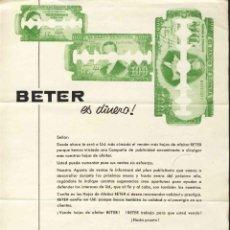 Catálogos publicitarios: PUBLICIDAD HOJAS DE AFEITAR: BETER ES DINERO (21 X 28 CMS). Lote 213354075