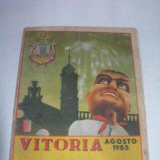Catálogos publicitarios: ANTIGUO PROGRAMA FIESTAS DE LA VIRGEN BLANCA DE VITORIA - ÁLAVA - AGOSTO 1955 -. Lote 213544592