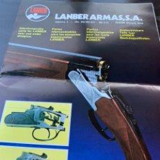 Catálogos publicitarios: CATALOGO MANUAL DESPIECE DE 1978 ESCOPETAS LANBER ARMAS ZALDIBAR. Lote 213755751