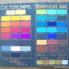 Catálogos publicitarios: VINTAGE: DETREMPE COULEURS BOURGEOIS AINÉ, PARÍS POUR AFFICHES, BRONZE EN TUBES & GODETS, CRAYONS. Lote 214831581