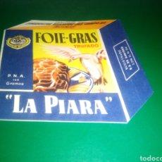 Catálogos publicitarios: ANTIGUO CATÁLOGO TROQUELADO DE FOEI GRAS LA PIARA. PIEZA RARA. AÑOS 50. PUBLICIDAD. Lote 215045268