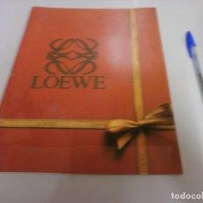 Catálogos publicitarios: CATALOGO LOEWE 1986 MODA Y COMPLEMENTOS 36 PAGINAS. Lote 215611302