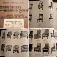 Catálogos publicitarios: HEYWOOD BR WAKEFIELD CIA CATALOGUE CHAIRS, REED Y RATTAN FURNITURE BILINGÜE SILLAS MUEBLES MIMBRE. Lote 215773156