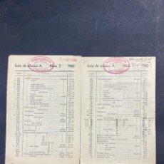 Catálogos publicitarios: 2 LISTAS DE PRECIOS DE JUGUETES. FRANCISCO DE CACERES CAMPOS. CORDOBA. AÑO 1940. VER. Lote 215986041