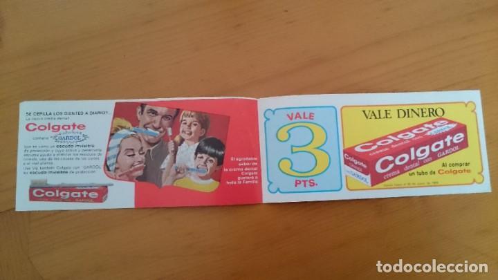 Catálogos publicitarios: PUBLICIDAD COLGATE CON GARDOL - VALE DE 3 PESETAS - DOBLE HOJA - AÑO 1969 - Foto 2 - 216495150