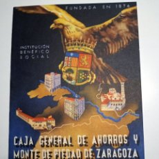 Catálogos publicitarios: DATOS RESUMEN DEL EJERCICIO DE 1945 CAJA DE AHORROS Y MONTE DE PIEDAD DE ZARAGOZA. Lote 216740665