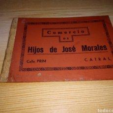 Catálogos publicitarios: FUNDA DE CARPETA MUY ANTIGUA DEL COMERCIO DE HIJOS DE JOSÉ MORALES. CATRAL (ALICANTE). Lote 216750158