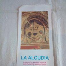 Catálogos publicitarios: 22-FOLLETO PUBLICITARIO MUSEO MONOGRAFICO DE LA ALCUDIA.. Lote 216773055