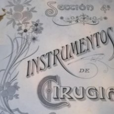Catálogos publicitarios: ALBUN O SIMILAR INSTRUMENTOS DE CIRUGÍA BARCELONA. Lote 217566933