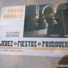 Catálogos publicitarios: CATALOGO DOMECQ FIESTAS DE LA PRIMAVERA. Lote 217597840