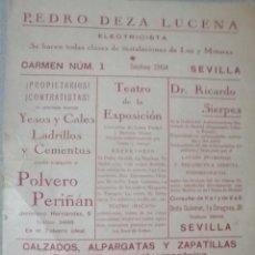 Catálogos publicitarios: CATALOGO O SIMILAR DE PUBLICIDAD SEVILLA. Lote 217651403