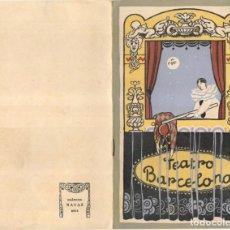 Catálogos publicitarios: COMPAÑIA COMICO - DRAMATICA, 1925 - GREGORIO MARTINEZ SIERRA - TEATRO BARCELONA. Lote 218254781