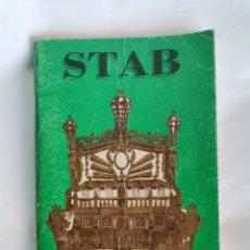 Catálogos publicitarios: STAB PARIS MINIATURE BATEAUX CATALOGO BARCOS. Lote 218341835
