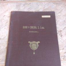 Catálogos publicitarios: TAPAS DE MUESTRARIO - CARPETA - FÁBRICA DE TEJIDOS DE LANA Y GABARDINAS BORI Y CIRERA - SABADELL -. Lote 218444227