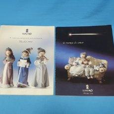 Catálogos publicitarios: 2 CATÁLOGOS DE NAVIDAD DE LLADRÓ - 1998 - 2000. Lote 218762616